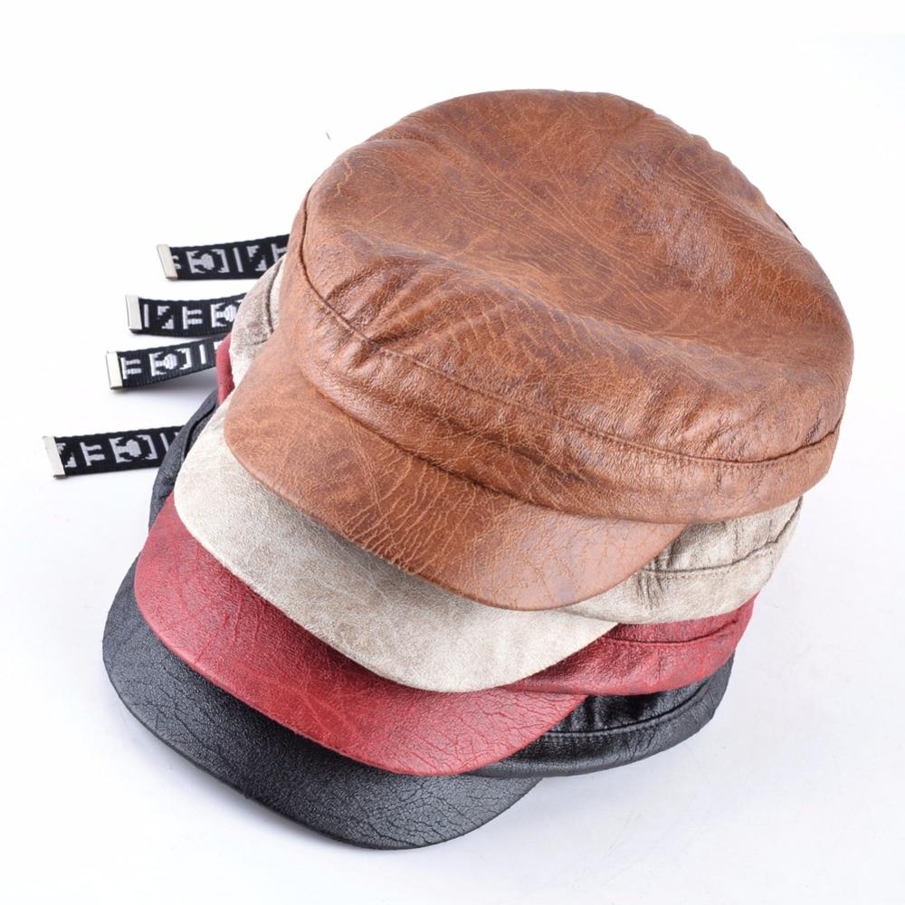 TQMSMY invierno de los hombres de cuero de las mujeres sombrero de ... f9b36ab26ca