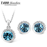 T400 Jewelers Made With SWAROVSKI Elements Crystal Necklace/Earrings Party Accessories Jewelry Sets For Women #10575/8244