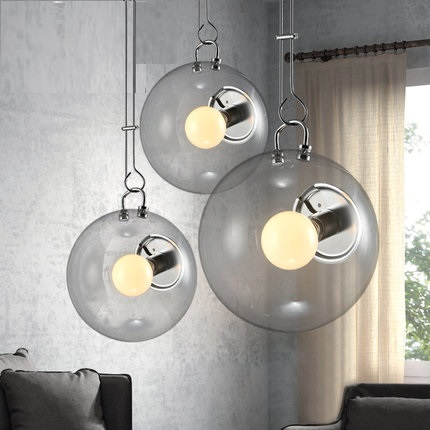 IWHD Glass Ball Pendant Lights Modern Fashion LED Hanging Lamp Home Lighting Fixtures Dining Room Reatauant Kitchen Light modern tiffany glass led pendant lights lamp fixtures e27 220v for decor dinning room kitchen bar restaurant home lighting