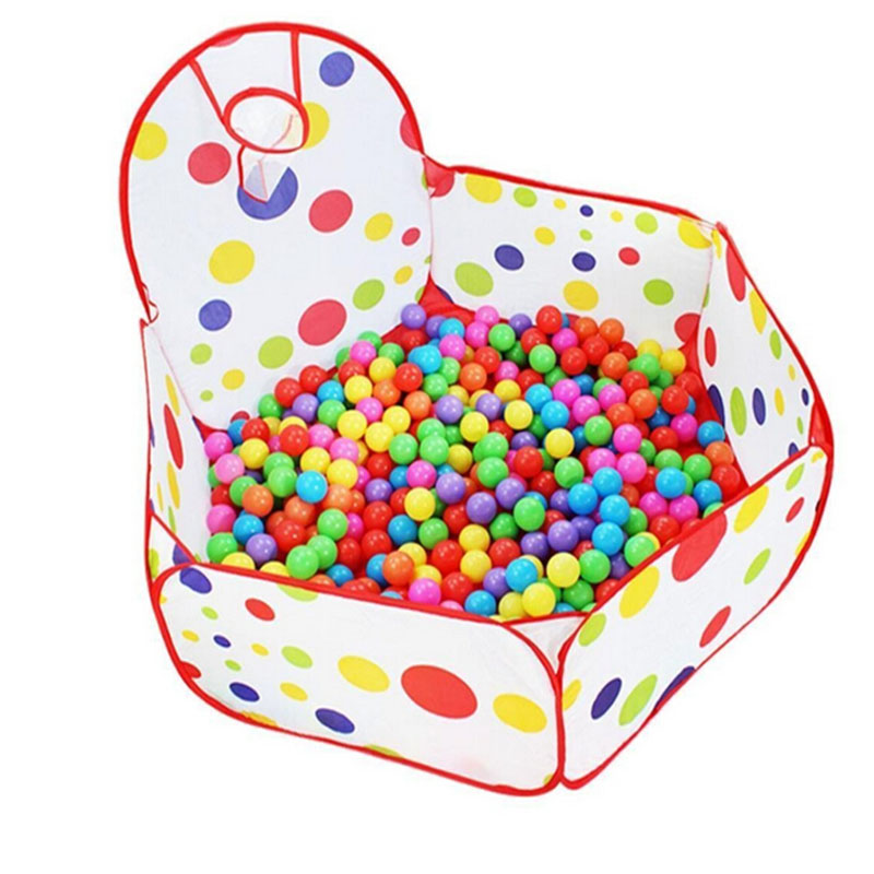 Portbale Play Tent with Basketball Hoop 1.2m Hexagon Polka Dot Fold Kids Tent Play House Princess Nice Christmas Gift zk30