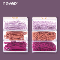 Never Metal Paper Clips Document Cute Clip Paper Large Photo Clip Holder Office Accessories Business Girls
