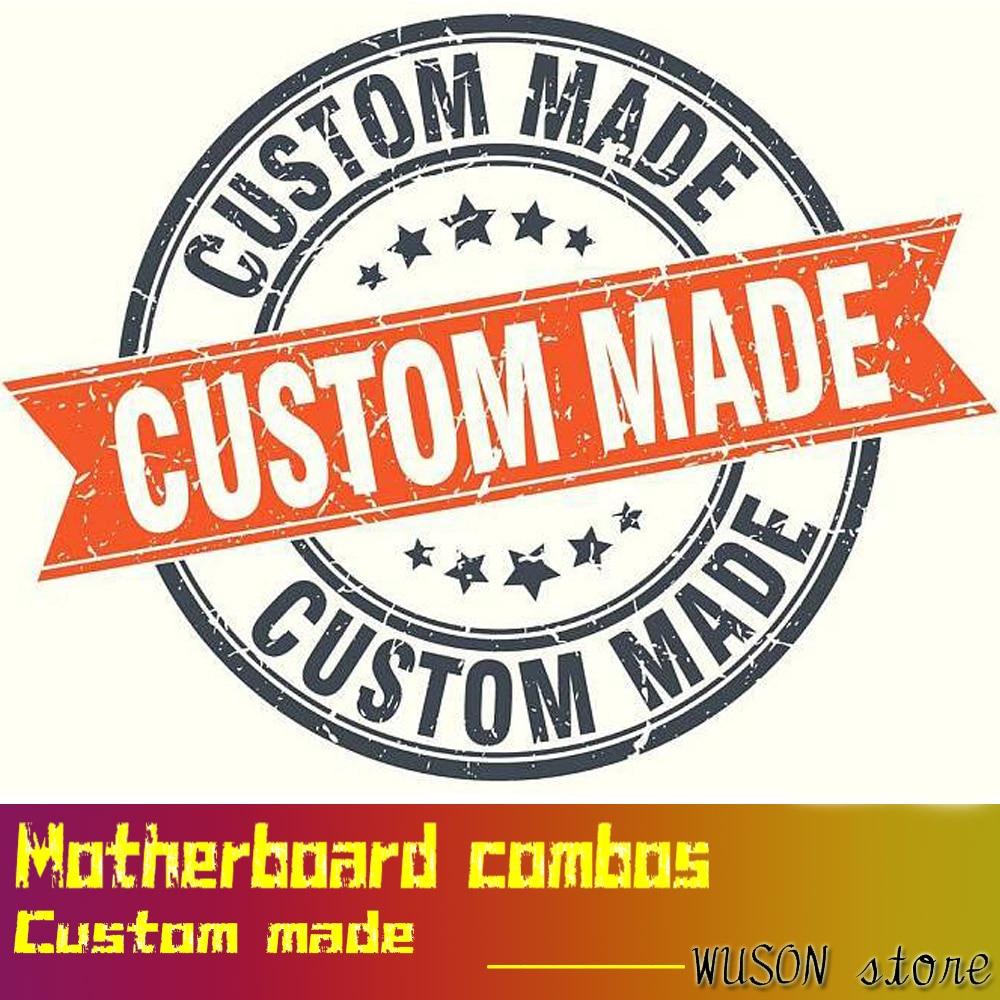 Carte mère combos custom made ordinateur DIY obtenir devis par juste nous dire ce que vous avez besoin de qualité garantie par WUSON magasin
