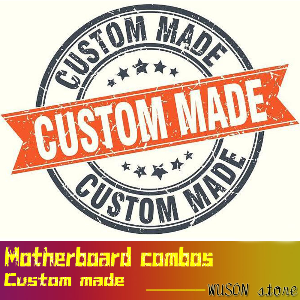 Motherboard combos custom made computer DIY get quotation by just telling us what you need quality guarantee by WUSON store