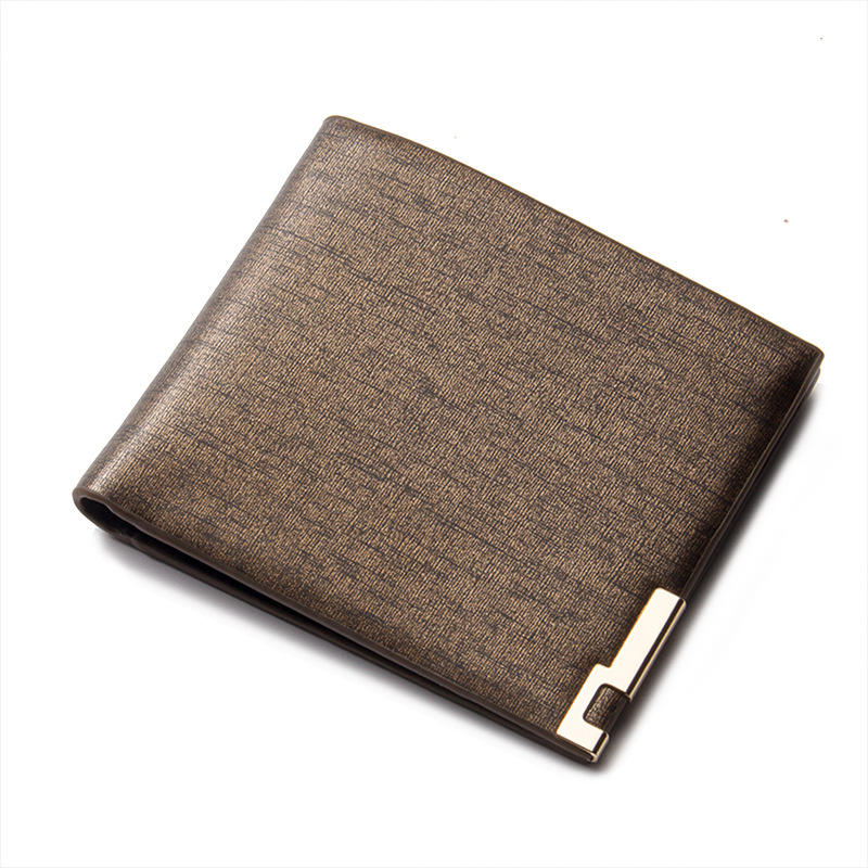 цены Fashion New Rough Texture Men Wallets Gold Blue Colors Quality PU Leather Thin Credit Card Holder Purse Wallet Free Shipping