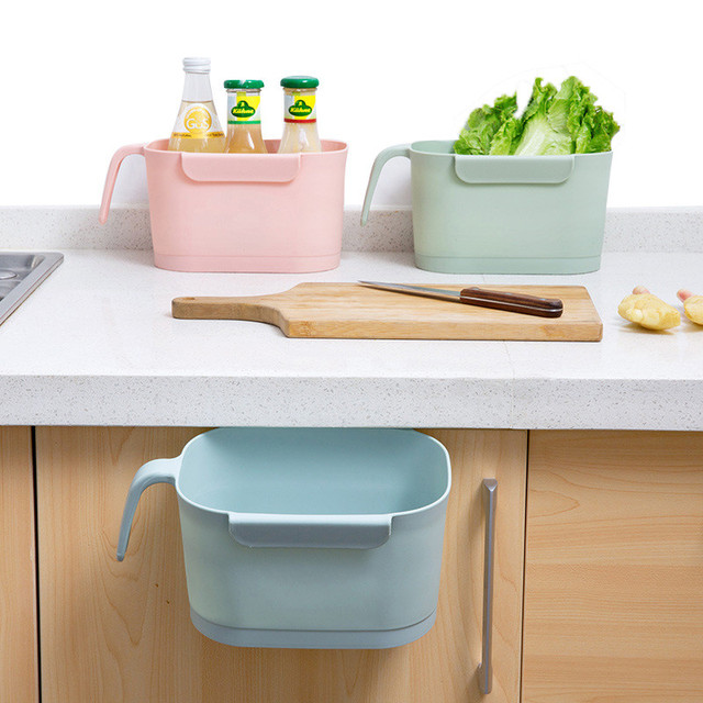 Us 7 84 39 Off Multifunction Kitchen Storage Cabinet Door Hanging With Handle Garbage Storage Box Household Desk Plastic Hang Storage Boxes In
