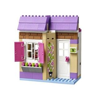 """Image 5 - Игрушка """"сделай сам"""" 10495 Heartlake 41108 для рынка пищевых продуктов, строительные блоки, модели игрушек для детей, совместимые с Legoe Friends, кубики, фигурки"""