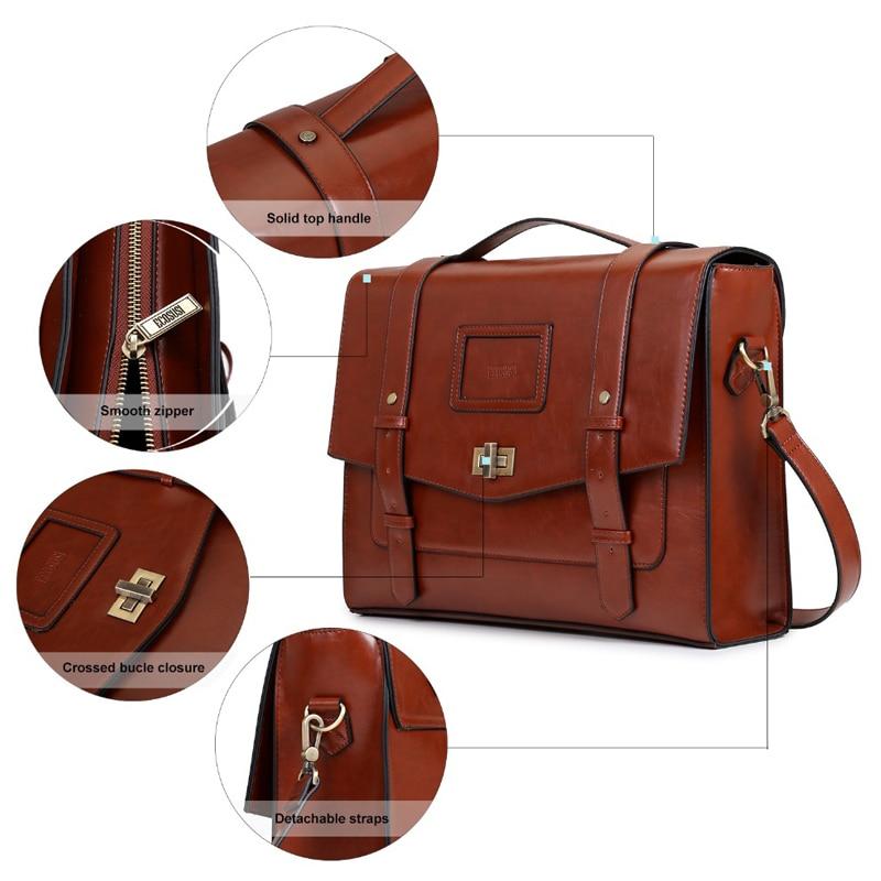 ECOSUSI New Design női Messenger táskák Vintage PU bőr táska - Kézitáskák - Fénykép 3