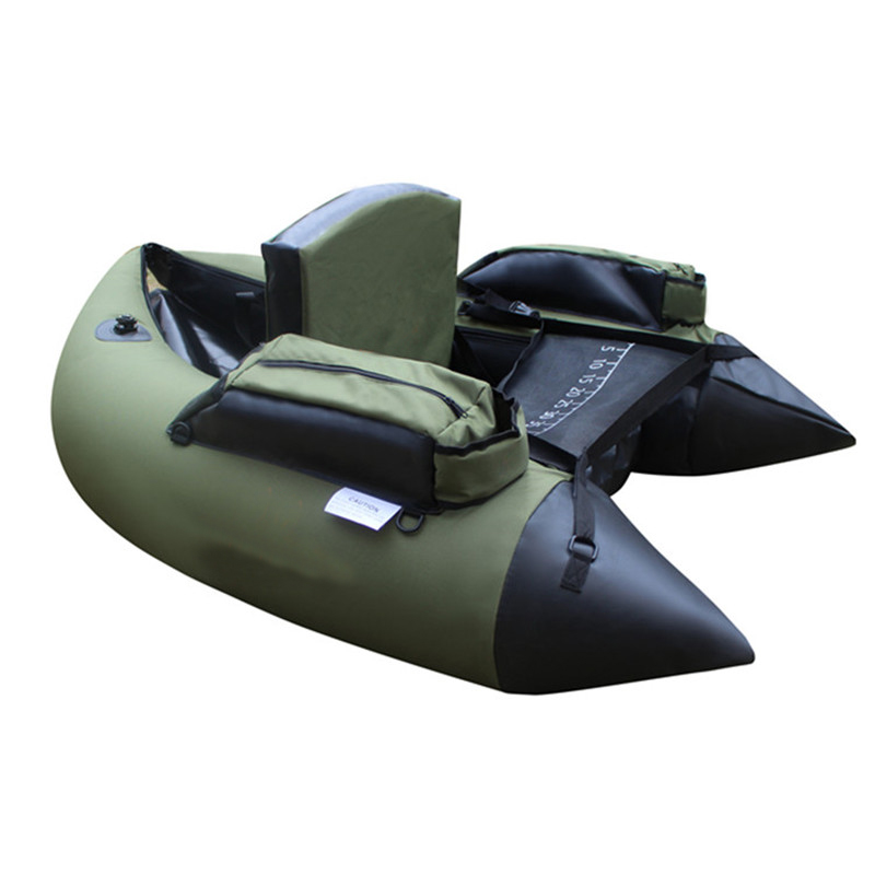 Professional Inflatable Fishing Catamaran PVC Rubber Boat for Fishing Kayak 1 Person Inf ...