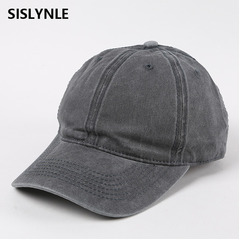 Washed Cotton Adjustable Solid color Denim hip hop casual Baseball Cap Unisex couple cap Fashion Leisure Casual hat Snapback baseball cap men s adjustable cap casual leisure hats solid color fashion snapback autumn winter hat