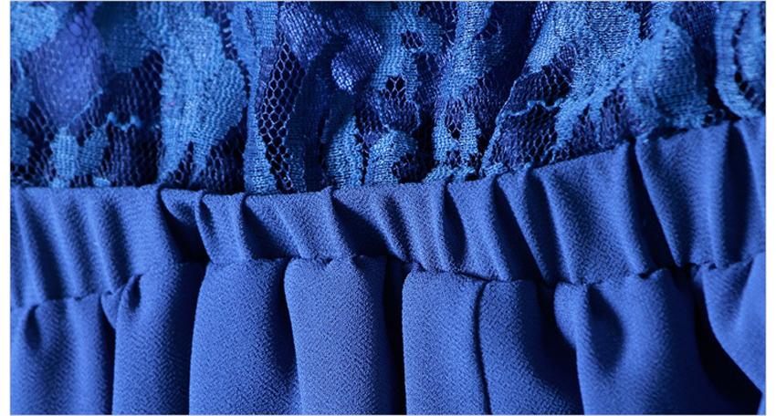 Chiffon Lace Jumpsuits mono mujer largo casual body suits for women combinaison pantalon femme elegante Wide leg pants 18
