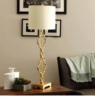 Modern Chinese Style Iron Fabric Gold Edison Table Lamps Industrial Bar Coffee Bedside Bedroom Home Decor Lighting Fixture