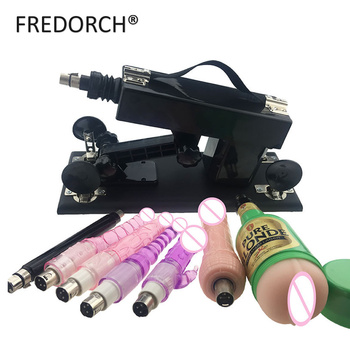 FREDORCH Unisex Sex Machine with Doildos,Extension Rod,Masturbation Cup Sex Products  Love Vibrator Toys for Woman and Man
