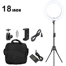 GSKAIWEN 18 inch Ring Light LED Dimmable Camera Photo For Studio/Phone Photography Lamp&Tripod Stand