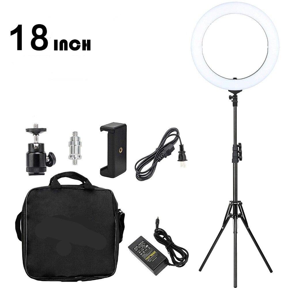 GSKAIWEN 18 pouce Anneau Lumière LED Dimmable Caméra Photo Lumière Pour Studio/Téléphone Photographie Light Ring Lamp & Trépied stand