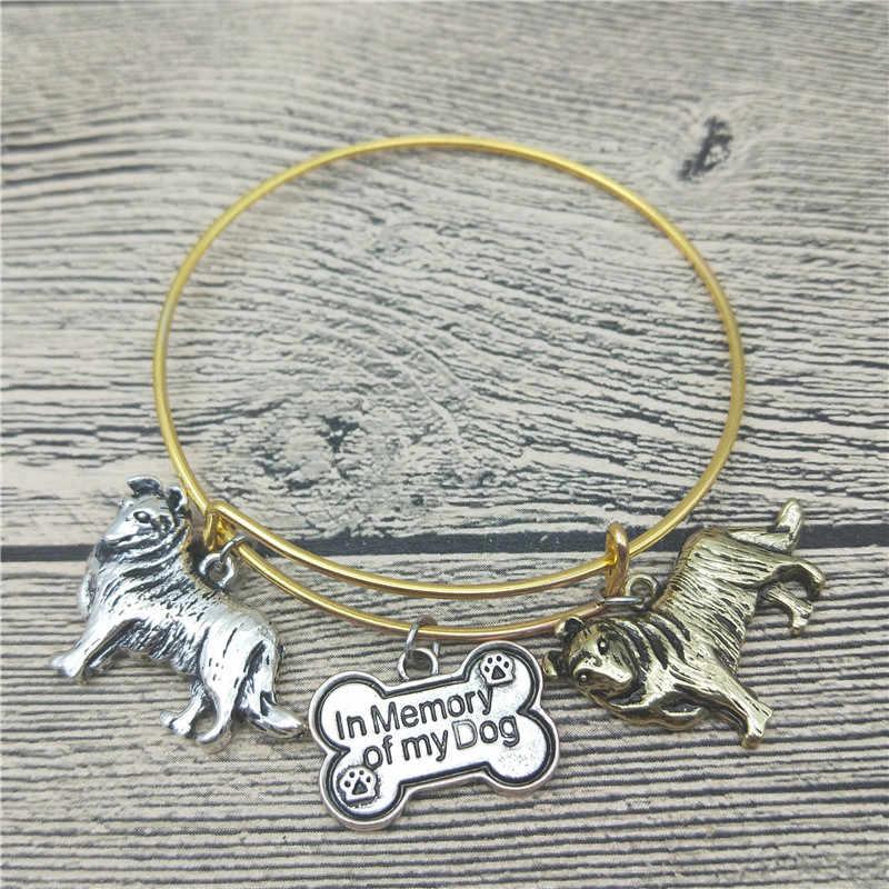Modny nowy szorstki Collie bransoletki słodkie szorstki Collie pies bransoletki moda biżuteria dla zwierząt domowych