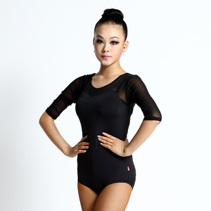 Discount Dance Costumes Salsa Robe De Danse Samba Ballroom Dance Tops For Women Adults Latin Top Lady Tango Leotard For Sale(China)