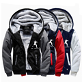 2016 Men's Winter Hoodies Tom Clancy's The Division SHD Coat Costume Zipper Sweatershirt Super Warm Thicken Fleece Outwear