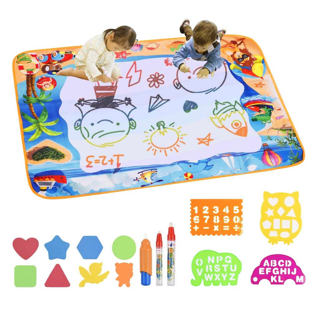 Large Size Magic Water Doodle Mat Mess Free Safe Reusable Painting Canvas Educational Drawing Board 100*70CM Best Gift For KidsLarge Size Magic Water Doodle Mat Mess Free Safe Reusable Painting Canvas Educational Drawing Board 100*70CM Best Gift For Kids