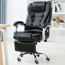 black chair with folding footrest rotation lying model