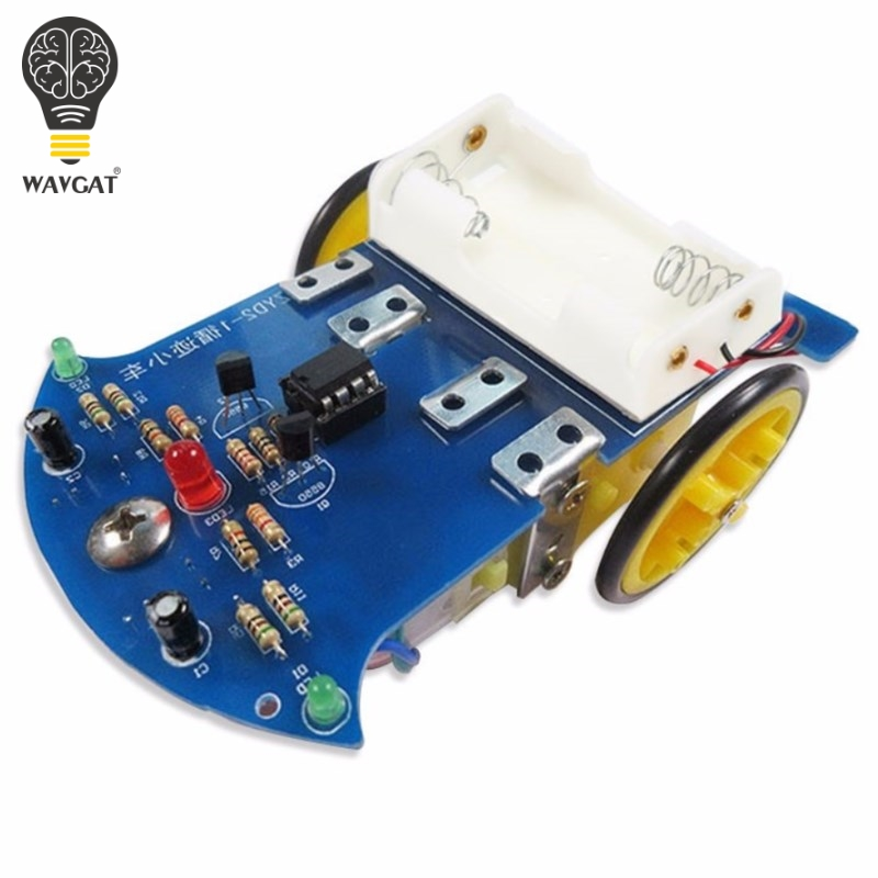 Suq T Intelligent Tracing Smart Car Chassis Kit Trace Intelligent Track Line Car Fun Electronic Production DIY Kit Practice