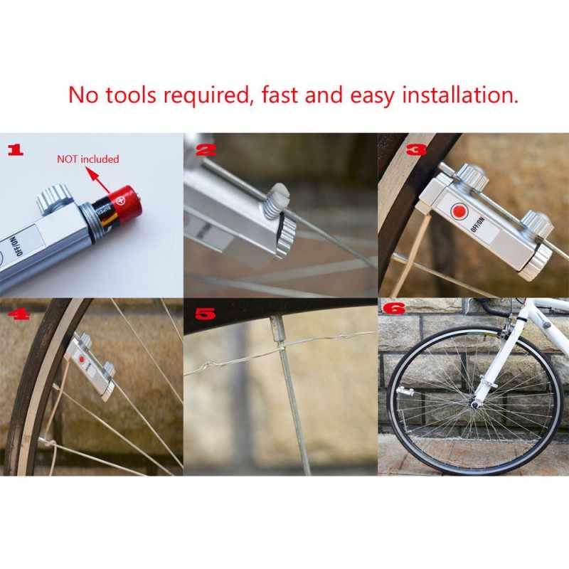 Lampes LED pour vélo 20 LED vélo VTT lumières éblouissantes vélo a parlé roue lampe vélo accessoires