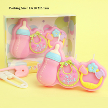 baby feeding bottle birthday candle cake supplies one year girl party decoration born