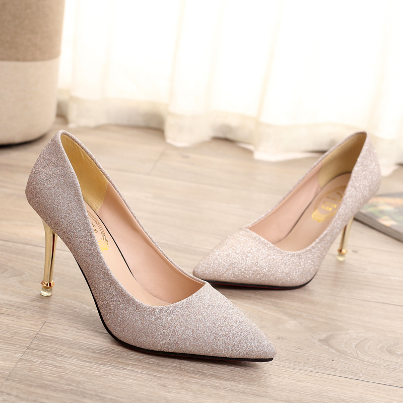 Women Shoes Fashion Pointed Toe Pumps Patent Leather High Heels Boat ...