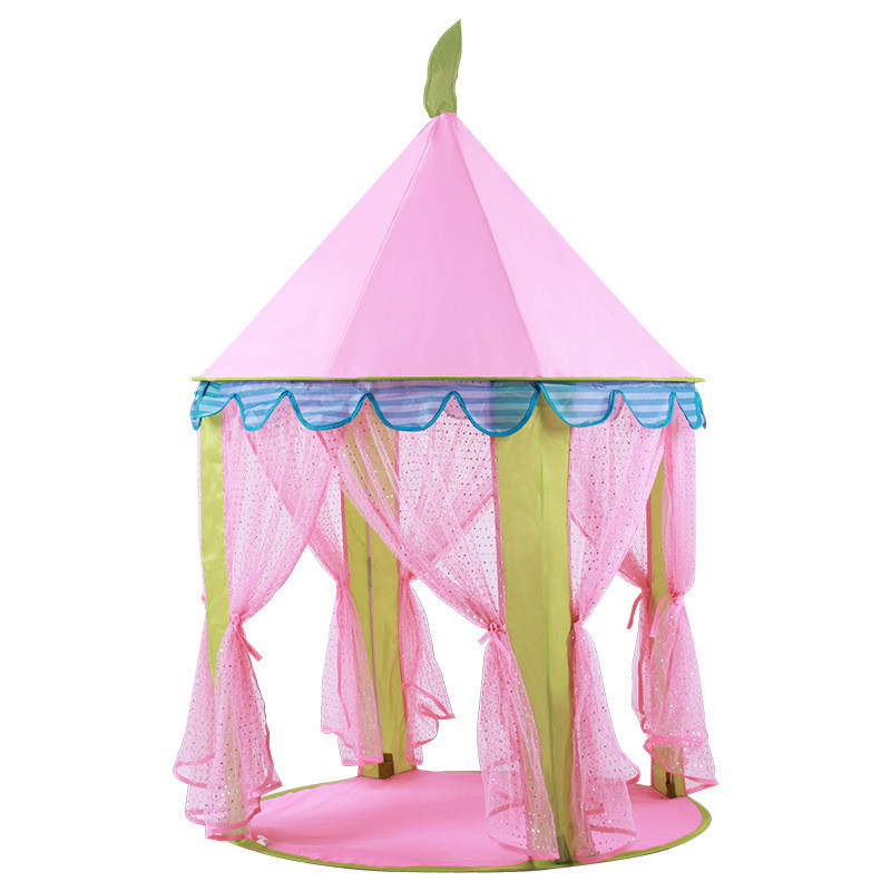 Portable Foldable Princess Folding Baby Toy Tents Children Castle Activity Play House Kids Gift Outdoor Fun Beach Tent For Kids