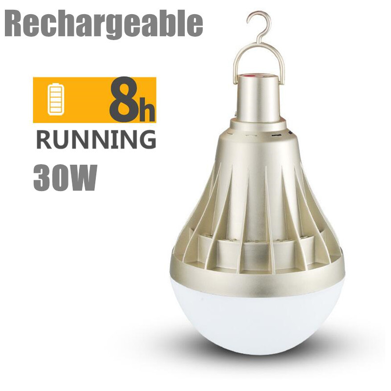 USB rechargeable LED bulb portable LED bulb 5 models dimmable led lamp outdoor emergency lighting 30W rechargeable LED bulb multifunction usb rechargeable portable led lamp bulb emergency lamp with switch and hook up outdoor camp climbing lighting