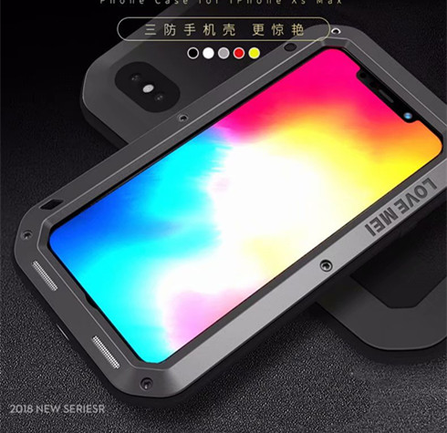 1 шт. чехол для iPhone Xs максимально сверхпрочный защиты Броня металлический Алюминий противоударный пылезащитный чехол для iPhone X XR Xs Max
