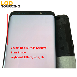 Image 4 - AMOLED Red Burn Shadow For Samsung Galaxy S9 LCD Display G960f S9 PLUS Display G965 Touch Screen Digitizer Assembly Replacement