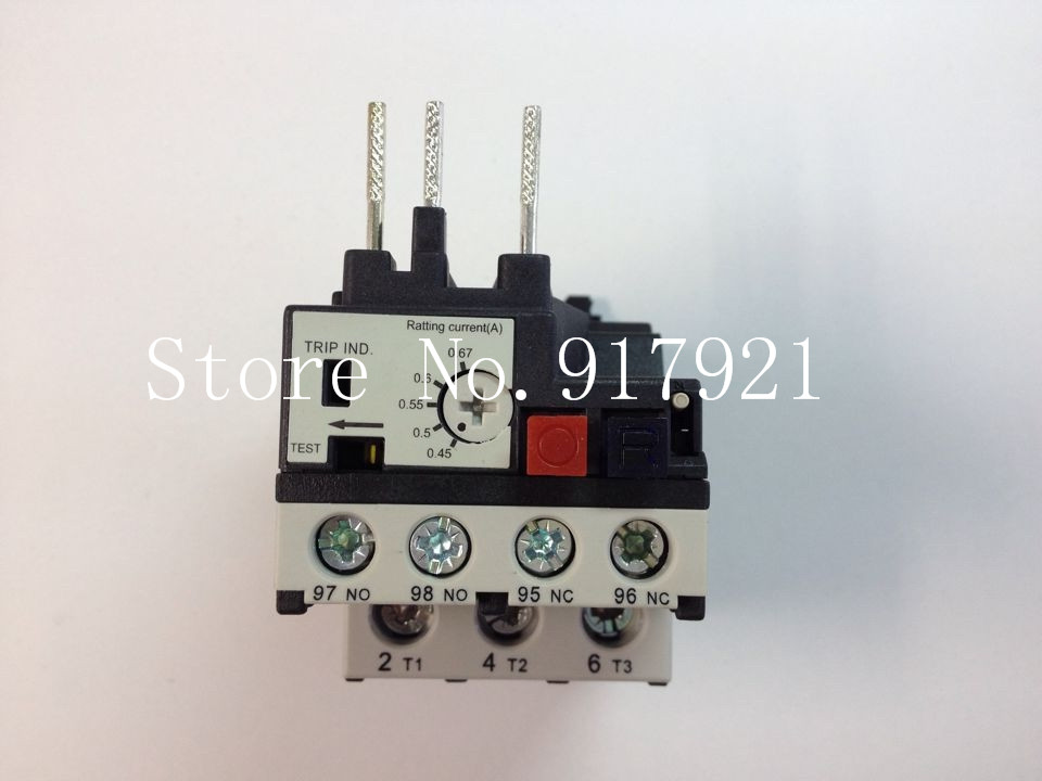 [ZOB] Hagrid EWT007B thermal overload relay 0.45-0.67A three-phase overload protection --5pcs/lot 2 pin thermal overload protection