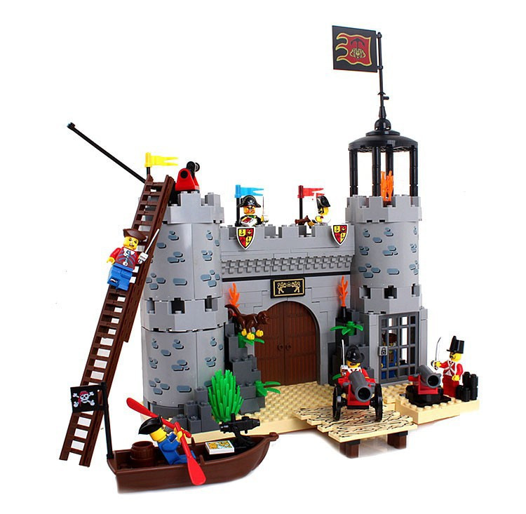 Enlighten Castle Series Pirates Robbery Barracks Model Building Blocks Bricks Sets Compatible With Legoe China kazi 608pcs pirates armada flagship building blocks brinquedos caribbean warship sets the black pearl compatible with bricks