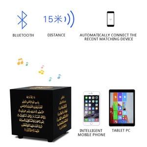 Image 5 - קוראן מגע מנורת אלחוטי Bluetooth רמקול שלט רחוק צבעוני LED לילה אור מוסלמי קוראן מדקלם FM TF MP3 מוסיקה מנורה