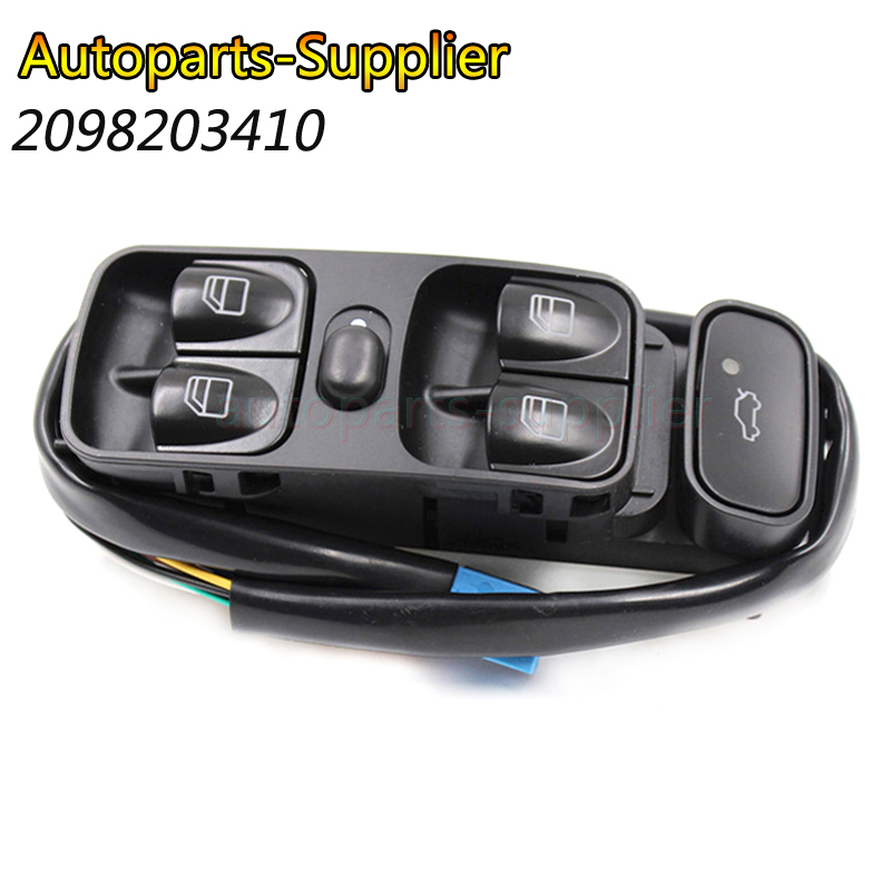 2098203410 2038200110 Power Control Window Switch Front left For <font><b>MERCEDES</b></font> <font><b>SL500</b></font> C CLASS W203 C200 C220 2038210679 A2038210679 image