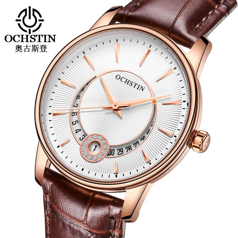 Prix pour OCHSTIN Femmes Montres Dames En Cristal de Mode Casual Bracelet En Cuir Bracelet À Quartz Montre Femme Horloge montre femme relojes mujer