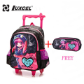 Luxcel Boys Girls Cartoon wheel school bag foldable backpack for children fashion trolley kids backpacks back to school