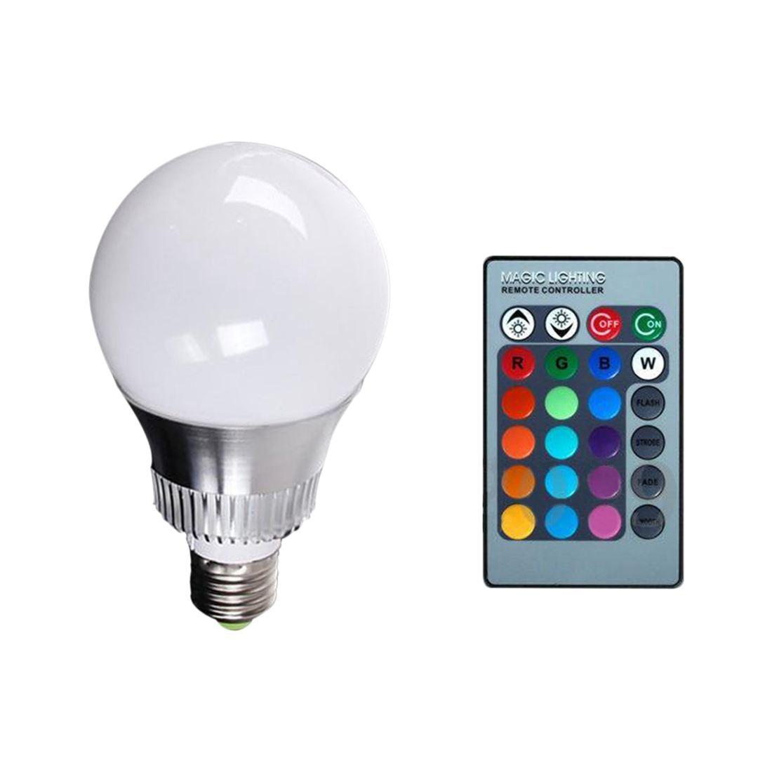 MRE RGB LED Color Changing Light Bulb & Remoto Control Tipo- E27 10W RGB
