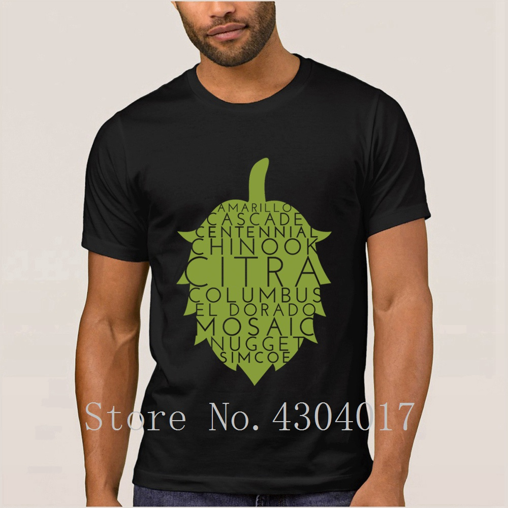 American Hops Craft Beer Tshirt Round Collar Custom Funny Men T Shirt Clothes Camisetas Big Size Xxxl Awesome Hiphop Tops
