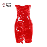 2b17a067c Comeondear Leather Corset Dress Corsetto Steampunk Corsets And Bustiers  Sexy AB9005 Women Fashion Leather Sexy Clothes