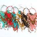 Нью-чешского стиль красочные бусины серьги ручной работы для женщин и 6 цвета E80