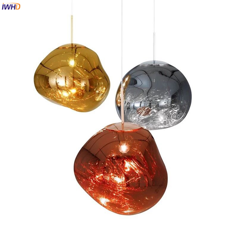 IWHD Glass Ball Nordic LED Pendant Light Fixtures Dinning Living Room Lamp Hanging Lights Hanglamp Lustre Lampara Colgante