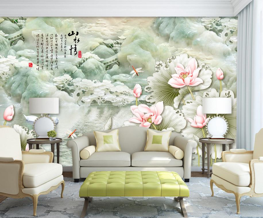 Online get cheap printed wall paper for Design a mural online