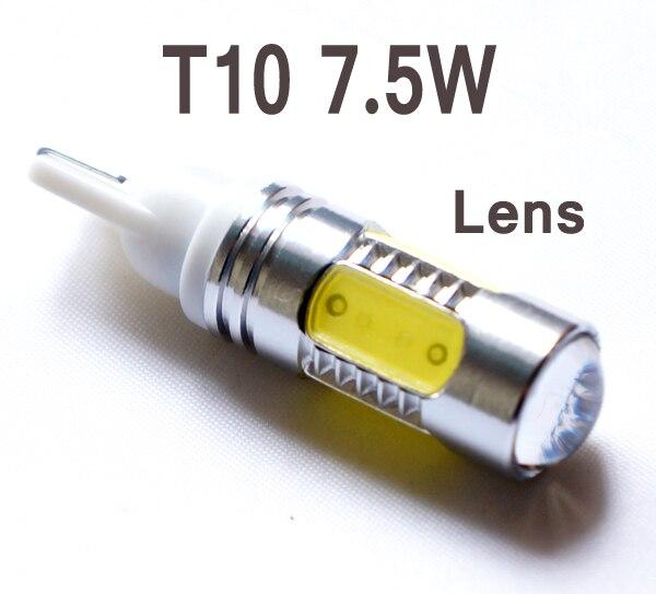 2Pcs/Lot High Power Car Vehicle 7.5W T10 LED License Door Light Plate White Bulb Lamp Auto Driving