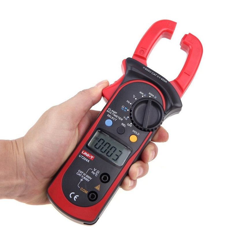 ФОТО 1pcs UNI-T UT204A DC/AC Voltage Current Digital Clamp Meter with Resistance, Capacitance, Frequency and Temperature Measurement