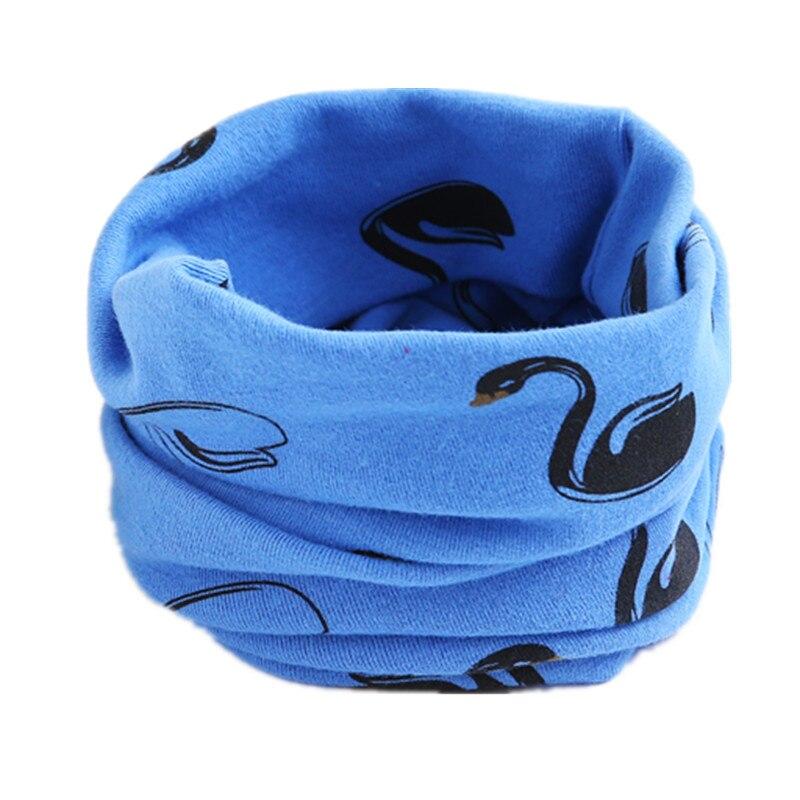 Осенне-зимний детский хлопковый шарф для девочек и мальчиков теплые шарфы Детский круглый кольцевой ошейник Детский шарф детский волшебный шейный платок - Цвет: blue swan