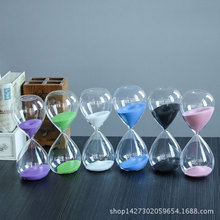 60 minutes wooden base timing hourglass, creative glass crafts home decoration