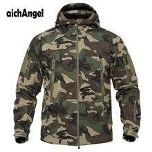 Jaqueta militar tática masculina v5.0, casaco masculino à prova dágua macia, corta vento