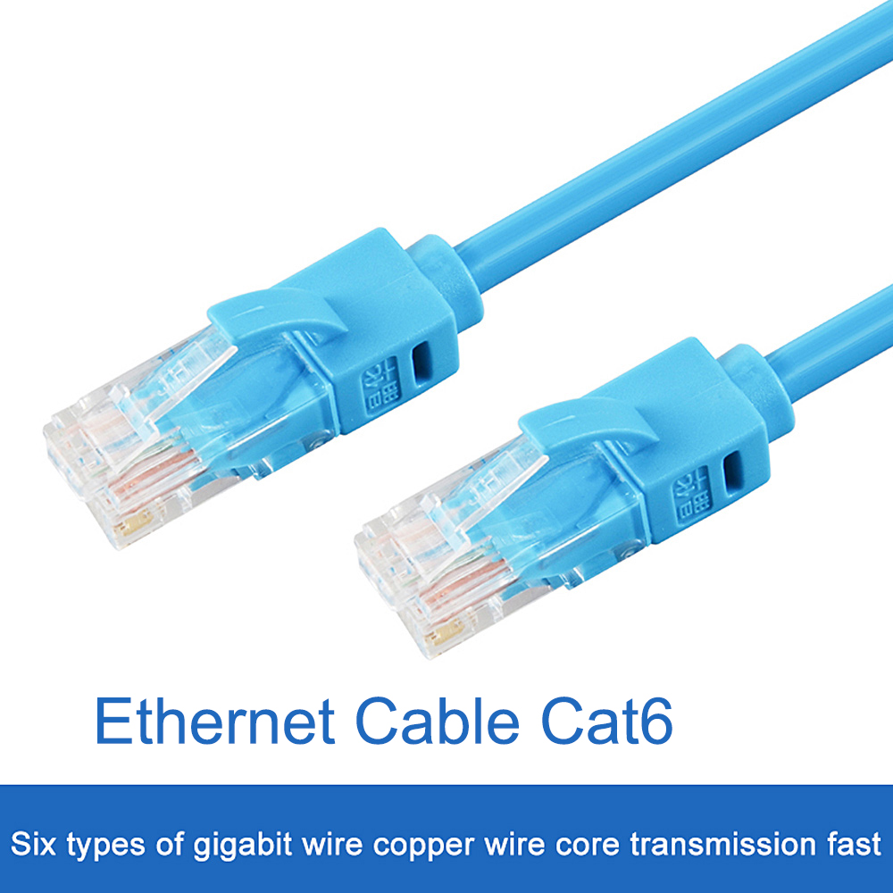 Blue Ethernet Internet LAN CAT5e Network Cable for Computer Modem Router Lot