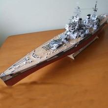 Paper Wales Battleship Warship Model Toys Handmade 3D DIY ship creative show props tide Military fans Collection Gift 83CM 1 700 proportion assembly model warship retrofit parts japanese battleship nagato toys